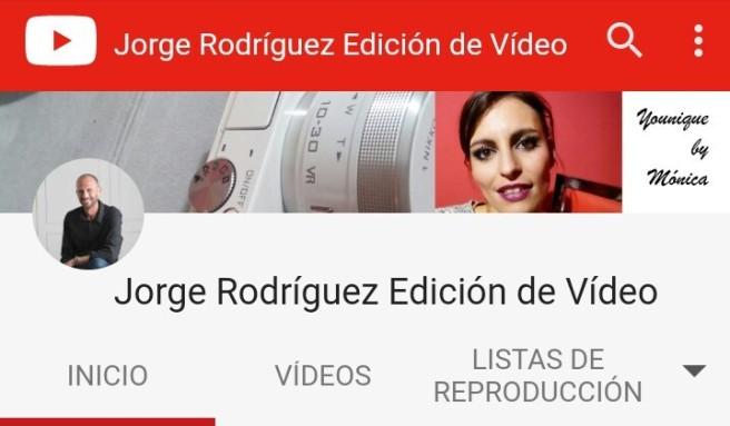 Jorge Rodríguez Edición de Vídeo Canal de You Toube